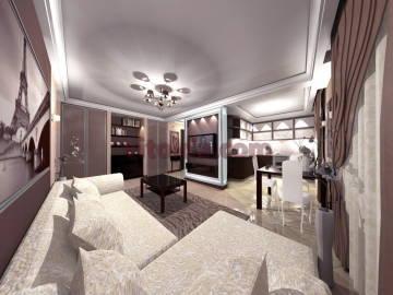 Дизайн интерьера гостинной 1