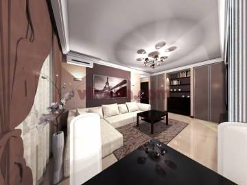 Дизайн интерьера гостинной 2
