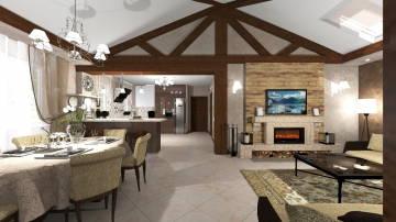 Дом интерьер гостиной 1