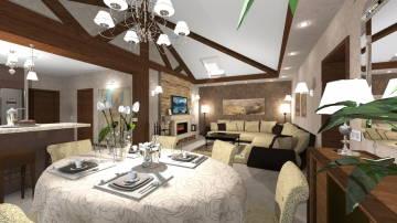 Дом интерьер гостиной 2