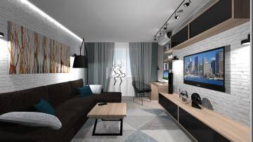 черно-белая гостиная 1