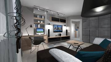 черно-белая гостиная 2