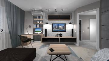 черно-белая гостиная 3
