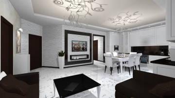 черно-белая гостиная 4