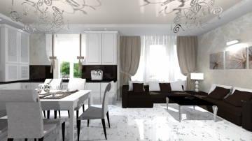 черно-белая гостиная 5