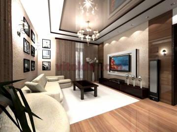 Нестандартный дизайн интерьера в гостинной 3