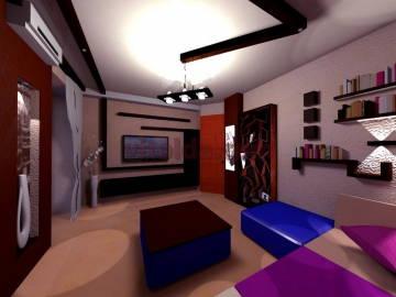 Стильный дизайн гостинной 1
