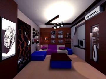 Стильный дизайн гостинной 2