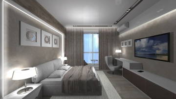 Интерьер светлой спальни - 3