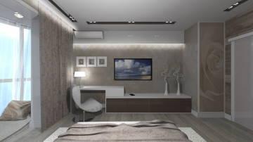Интерьер светлой спальни - 2