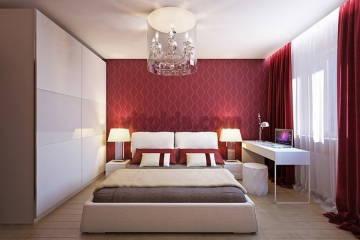 Дизайн красной спальни -2