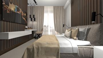 интерьер спальни с лоджией 2