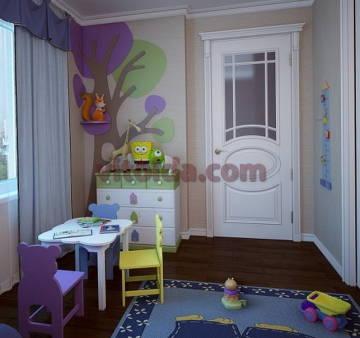 Дизайн интерьера детской 4
